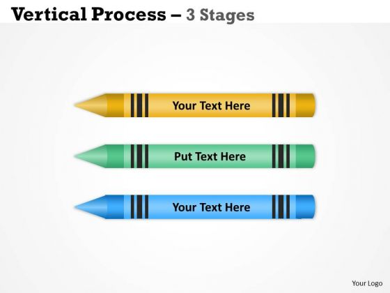 Strategic Management Vertical Process Diagram 3 Stages Strategy Diagram