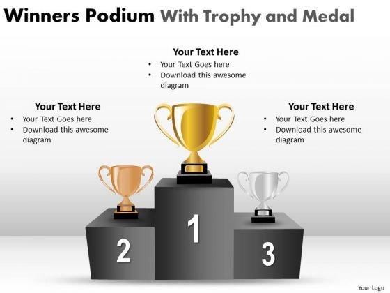 Strategic Management Winners Podium With Trophy And Medal Consulting Diagram