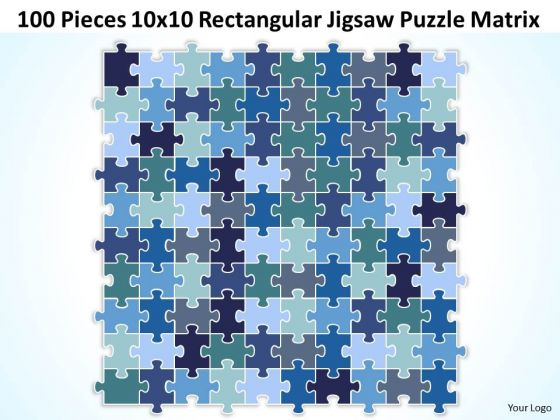 Strategy Diagram 100 Pieces 10x10 Rectangular Jigsaw Puzzle Matrix Business Diagram