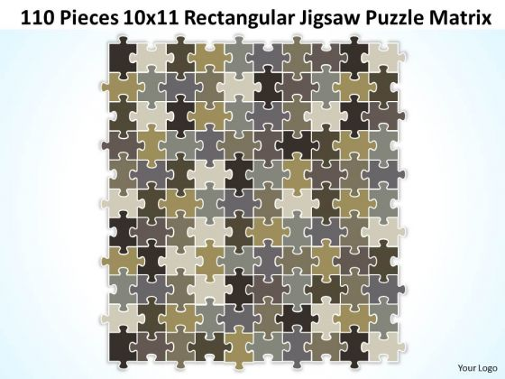 Strategy Diagram 110 Pieces 10x11 Rectangular Jigsaw Puzzle Matrix Sales Diagram