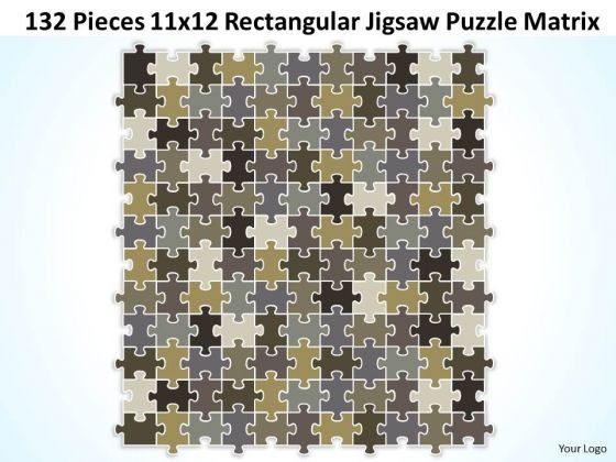 Strategy Diagram 132 Pieces 11x12 Rectangular Jigsaw Puzzle Matrix Business Diagram