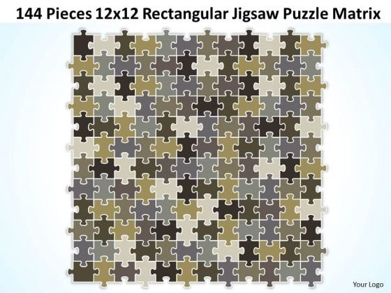 Strategy Diagram 144 Pieces 12x12 Rectangular Jigsaw Puzzle Matrix Strategic Management