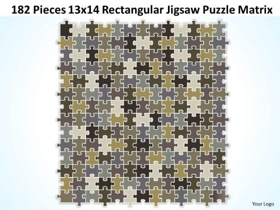 Strategy Diagram 182 Pieces 13x14 Rectangular Jigsaw Puzzle Matrix Business Diagram
