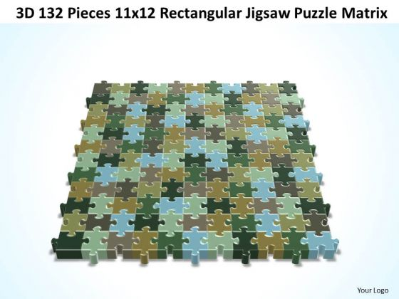 Strategy Diagram 3d 132 Pieces 11x12 Rectangular Jigsaw Puzzle Matrix Business Framework Model
