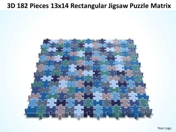Strategy Diagram 3d 182 Pieces 13x14 Rectangular Jigsaw Puzzle Matrix