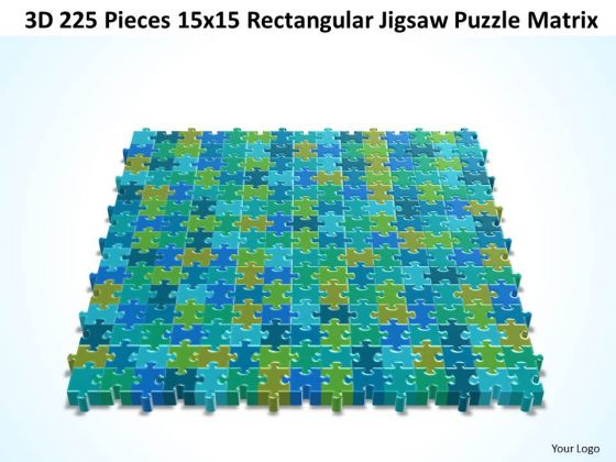 Strategy Diagram 3d 225 Pieces 15x15 Rectangular Jigsaw Puzzle Matrix Business Diagram