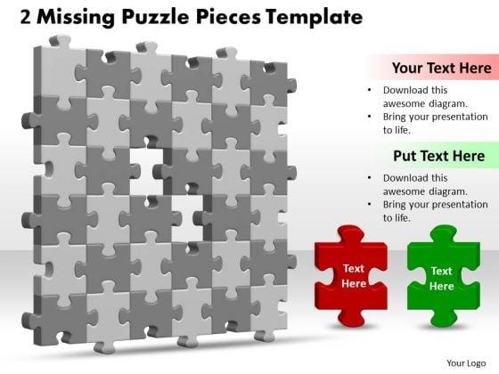 Strategy Diagram 3d 6x6 Missing Puzzle Piece Sales Diagram