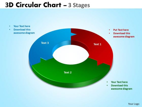 Strategy Diagram 3d Circular Chart 3 Stages Marketing Diagram