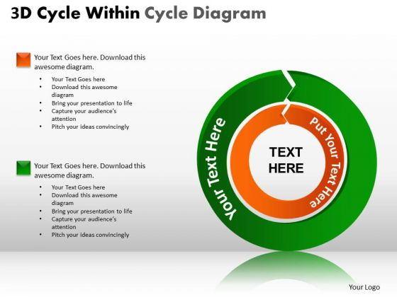 Strategy Diagram 3d Cycle Within Cycle Diagram Consulting Diagram