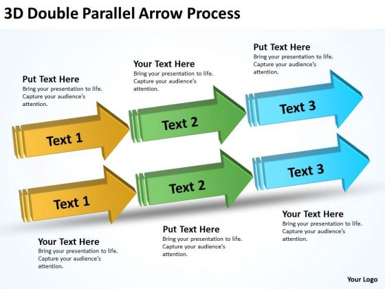 Strategy Diagram 3d Double Parallel Arrow Process Marketing Diagram