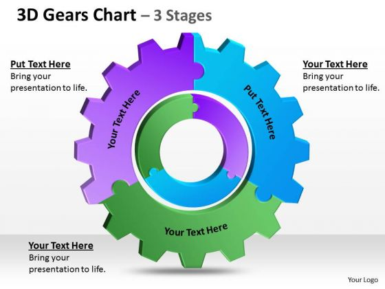 Strategy Diagram 3d Gears Chart 3 Stages Mba Models And Frameworks