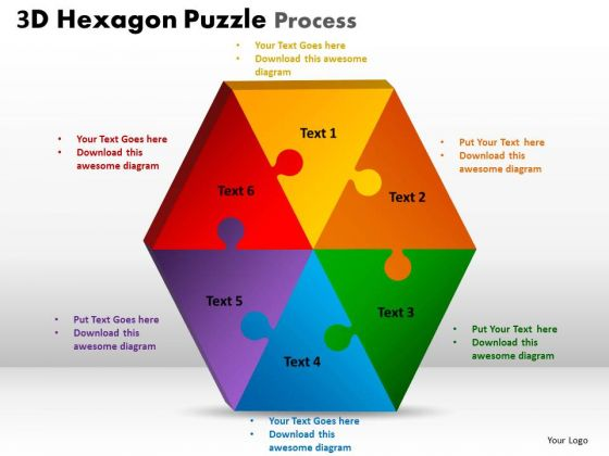 Strategy Diagram 3d Hexagon Puzzle Process Mba Models And Frameworks