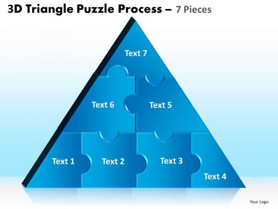 Strategy Diagram 3d Triangle Puzzle Process 7 Pieces Consulting Diagram