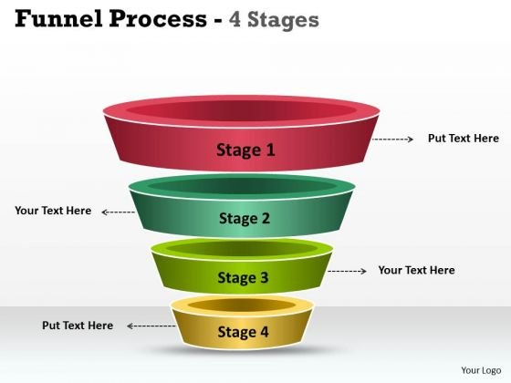 Strategy Diagram 4 Staged Independent Funnel Diagram Strategic Management
