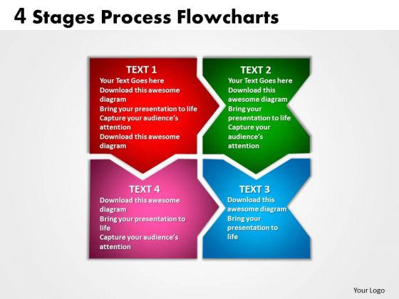 Strategy Diagram 4 Stages Process Flowcharts Strategic Management