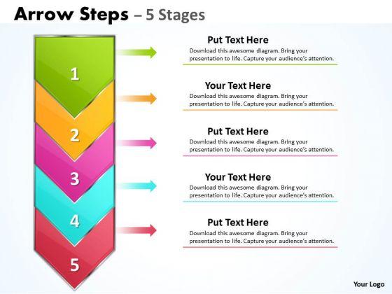 Strategy Diagram 5 Steps Arrow Process Consulting Diagram