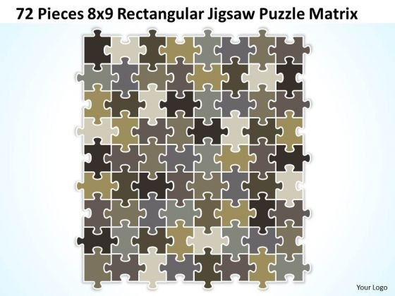 Strategy Diagram 72 Pieces 8x9 Rectangular Jigsaw Puzzle Matrix Business Diagram