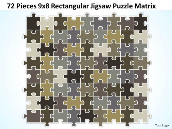 Strategy Diagram 72 Pieces 9x8 Rectangular Jigsaw Puzzle Matrix Business Cycle Diagram