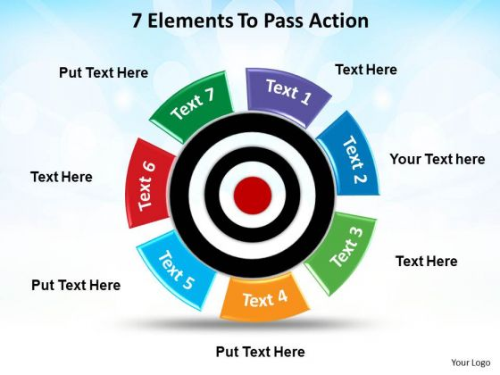 Strategy Diagram 7 Elements To Pass Action Sales Diagram
