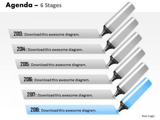 Strategy Diagram Agenda 6 Stages Consulting Diagram