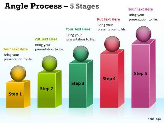 Strategy Diagram Angle Process With 5 Stages Consulting Diagram