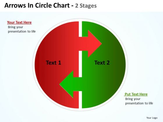 Strategy Diagram Arrows In Circle Chart 2 Stages Diagrams Marketing Diagram