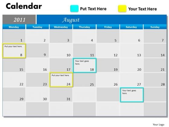 Strategy Diagram Blue Calendar 2011 Strategic Management