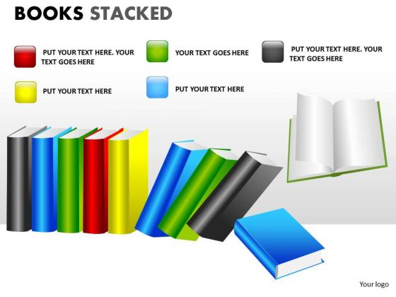Strategy Diagram Books Stacked Business Finance Strategy Development
