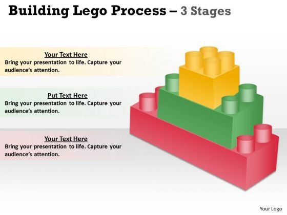 Strategy Diagram Building Lego Process 3 Stages Business Framework Model