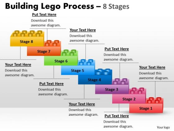 Strategy Diagram Building Lego Process 8 Stagess Business Diagram