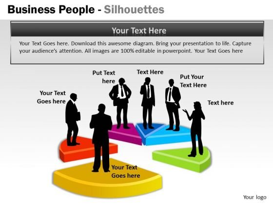 Strategy Diagram Business People Silhouettes Business Diagram