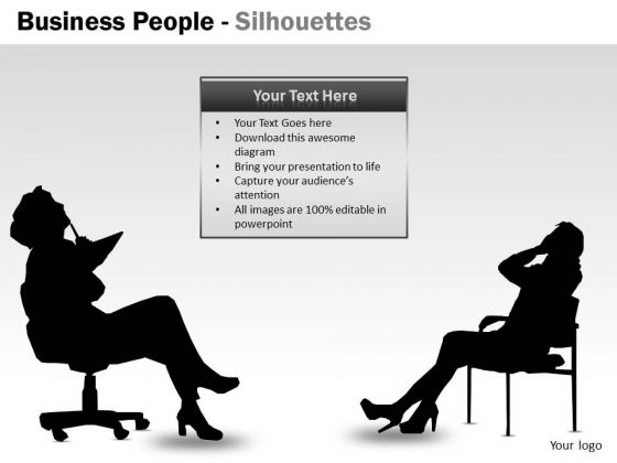 Strategy Diagram Business People Silhouettes Consulting Diagram