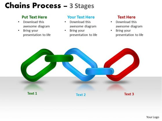 Strategy Diagram Chains Process 3 Stages Sales Diagram