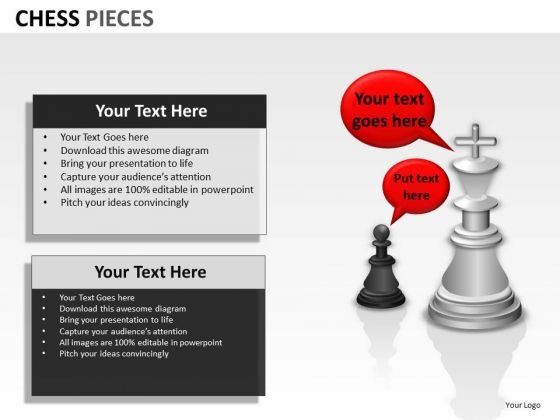 Strategy Diagram Chess Pieces Business Diagram