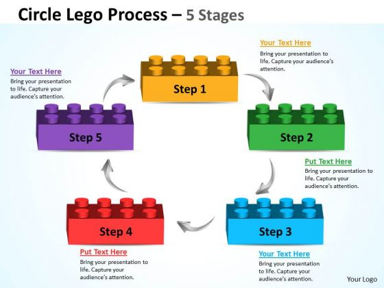 Strategy Diagram Circle Lego Process 5 Stages Strategic Management