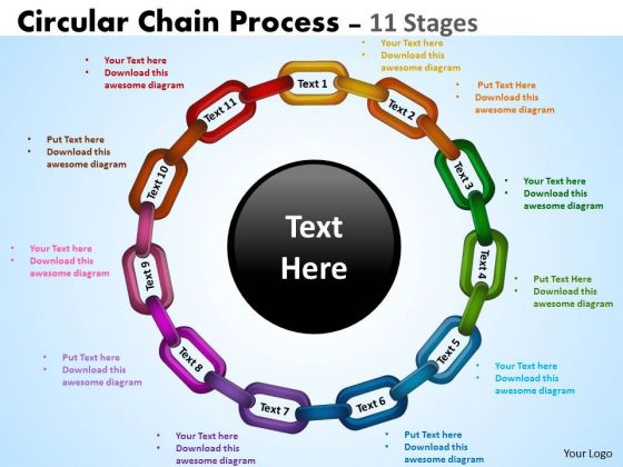 Strategy Diagram Circular Chain Flowchart Process Diagram 11 Stages Sales Diagram
