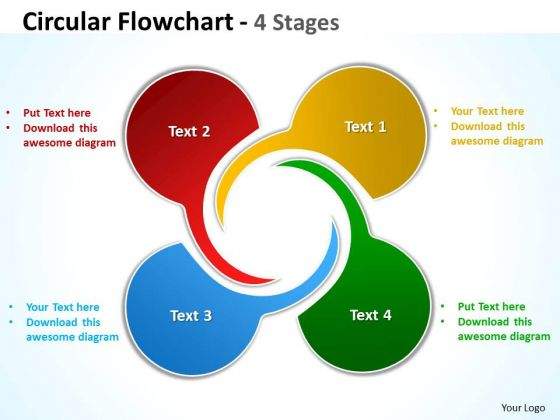 Strategy Diagram Circular Flowchart 4 Stages Business Cycle Diagram
