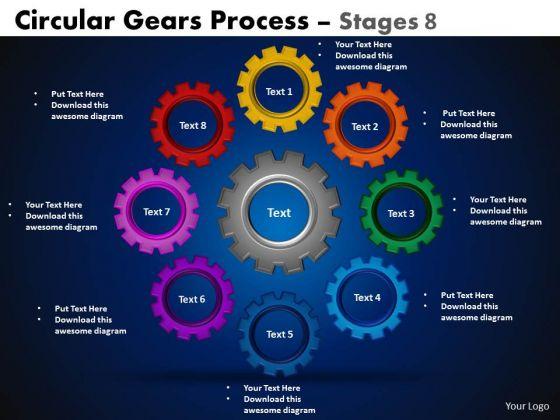Strategy Diagram Circular Gears Flowchart Process Marketing Diagram