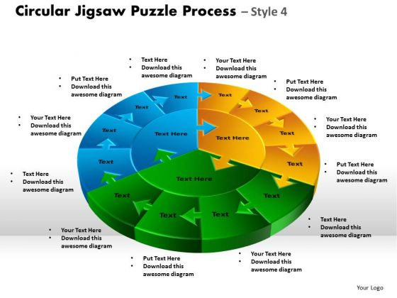 Strategy Diagram Circular Jigsaw Puzzle Process Style 9 Sales Diagram