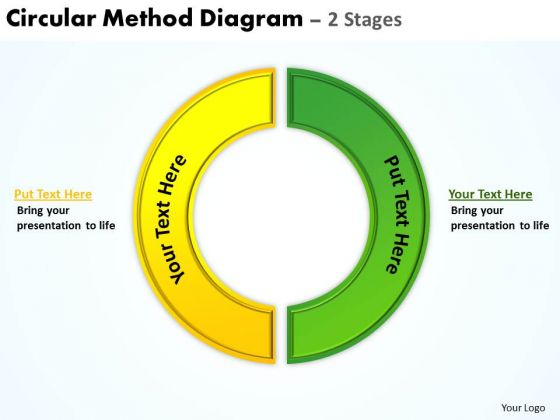 Strategy Diagram Circular Method Diagram 2 Stages Business Cycle Diagram