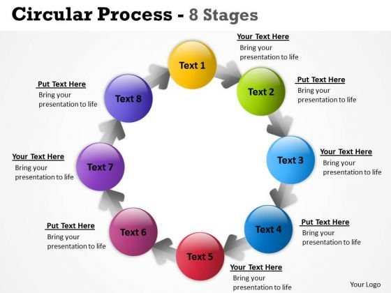 Strategy Diagram Circular Process 8 Stages Business Cycle Diagram