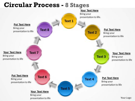 Strategy Diagram Circular Process 8 Stages Business Diagram