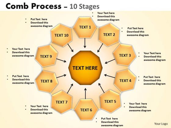 Strategy Diagram Comb Process 10 Stages Consulting Diagram