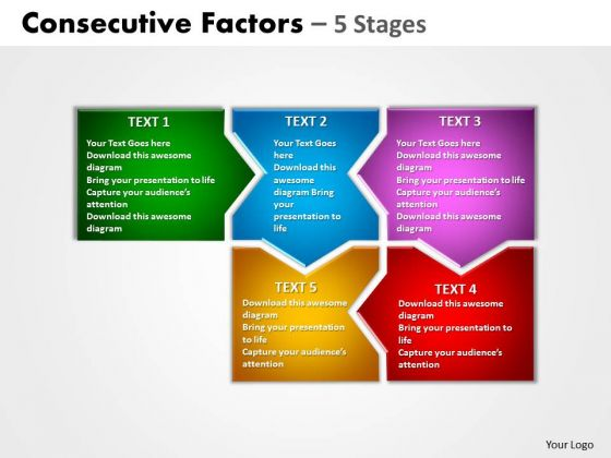 Strategy Diagram Consecutive Factors 5 Stages Marketing Diagram