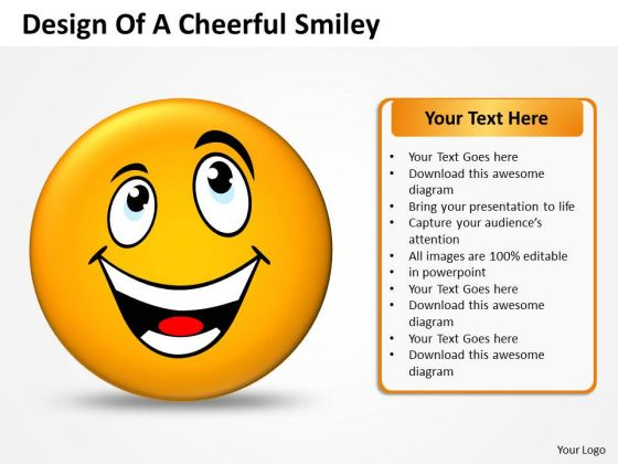 Strategy Diagram Design Of Cheerful Smiley Sales Diagram