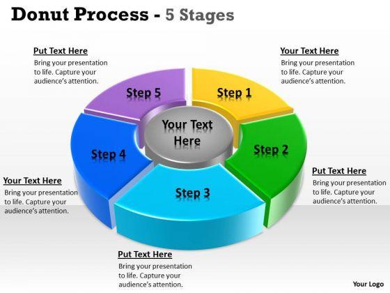 Strategy Diagram Donut Process Step Circular Templates Sales Diagram