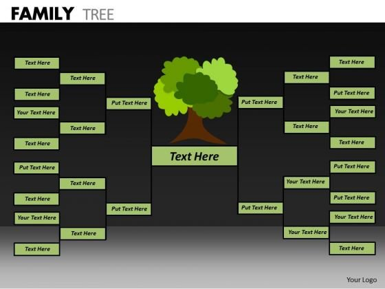 Strategy Diagram Family Tree Business Diagram