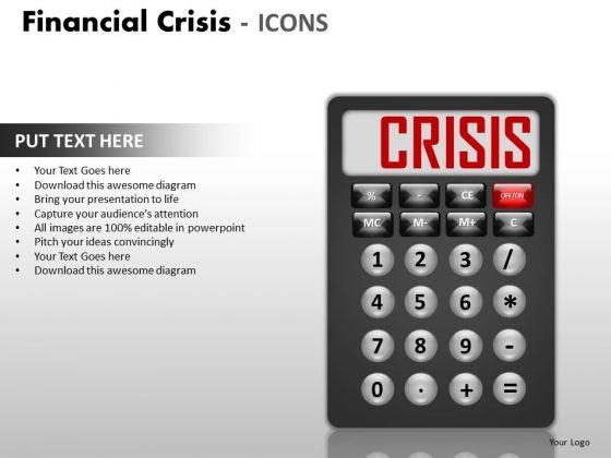 Strategy Diagram Financial Crisis Icons Sales Diagram