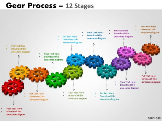 Strategy Diagram Gears Process 12 Stages Mba Models And Frameworks