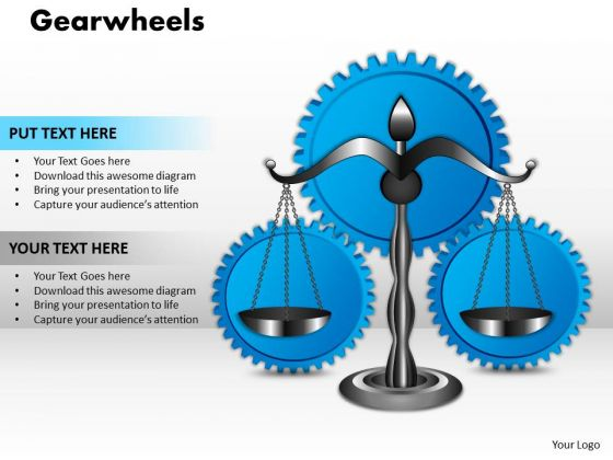 Strategy Diagram Gearwheels Business Cycle Diagram